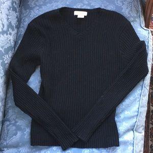 Wool blend black brooks brother's sweater